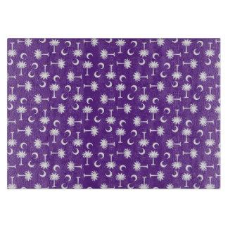 South Carolina Palmetto Moon Flag Purple Cutting Board