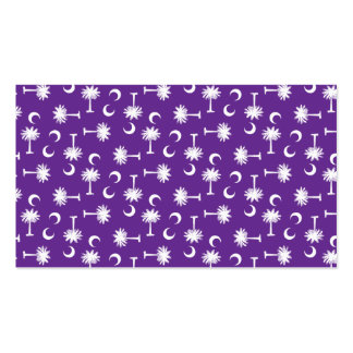 South Carolina Palmetto Moon Flag Purple Double-Sided Standard Business Cards (Pack Of 100)
