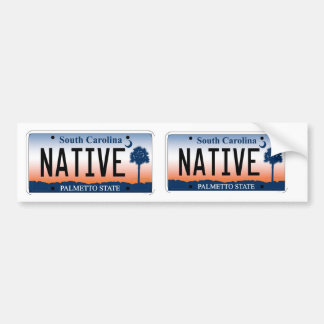 South Carolina Palmetto Sunrise Native Plate Bumper Sticker