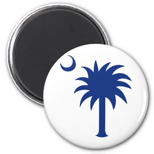 South Carolina Palmetto Tree 2 Inch Round Magnet