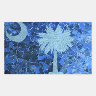 South Carolina Palmetto Tree Rectangular Sticker