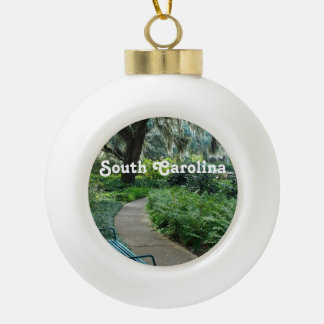 South Carolina Park Ceramic Ball Christmas Ornament