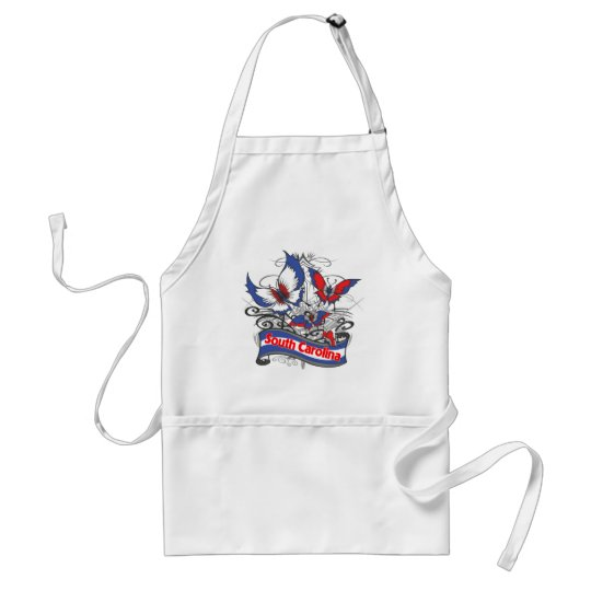 South Carolina Patriotism Butterfly Adult Apron