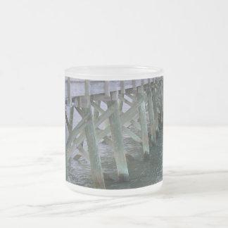 South Carolina Pier 10 Oz Frosted Glass Coffee Mug