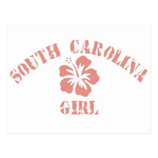 South Carolina Pink Girl Postcard