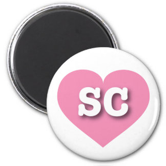 South Carolina pink heart - Big Love Magnet