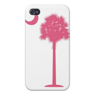 South Carolina Pink Palmetto Covers For iPhone 4