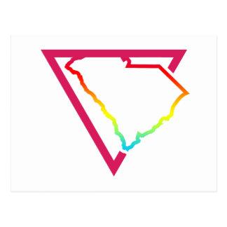 south carolina pink triangle postcard