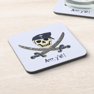 South Carolina Pirate Flag Coaster
