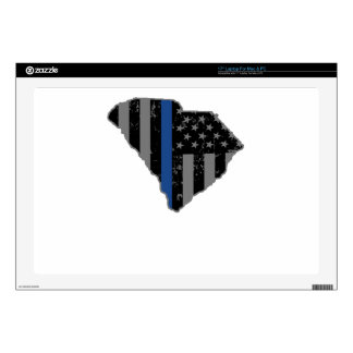 """South Carolina Police & Law Enforcement Thin Blue Decal For 17"""" Laptop"""