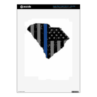 South Carolina Police & Law Enforcement Thin Blue iPad 3 Skin