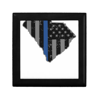 South Carolina Police & Law Enforcement Thin Blue Jewelry Box
