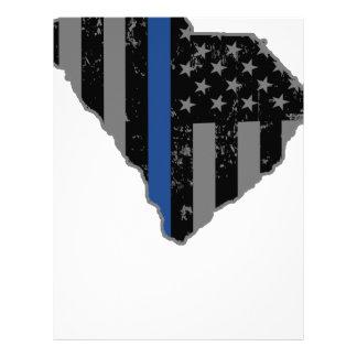 South Carolina Police & Law Enforcement Thin Blue Letterhead