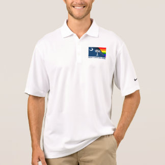 South Carolina Pride LGBT Rainbow Flag Polo Shirt
