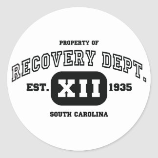 SOUTH CAROLINA Recovery Classic Round Sticker