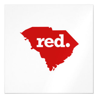 SOUTH CAROLINA RED STATE MAGNETIC CARD