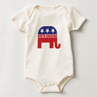 South Carolina Republican Elephant Baby Bodysuit