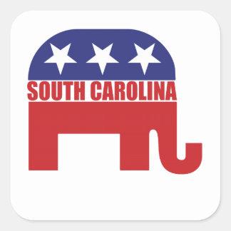 South Carolina Republican Elephant Square Sticker