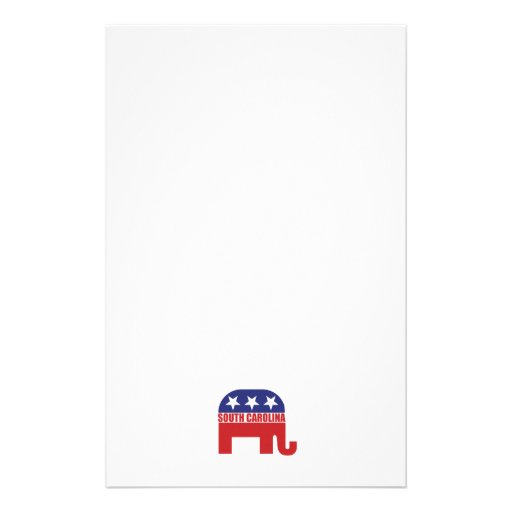 South Carolina Republican Elephant Personalized Stationery