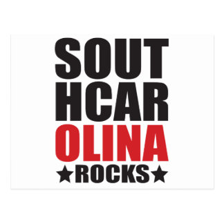 South Carolina Rocks! State Spirit Gifts and Appar Postcard