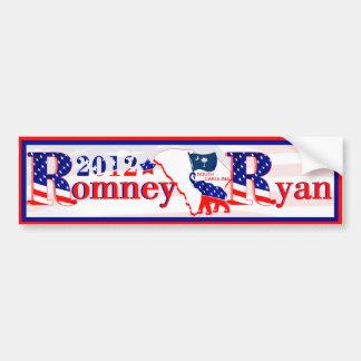 South Carolina Romney Ryan 2012 Bumper Sticker 2 Car Bumper Sticker