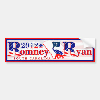 South Carolina Romney Ryan 2012 Bumper Sticker 3 Car Bumper Sticker