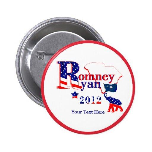 South Carolina Romney Ryan 2012 Button Customize