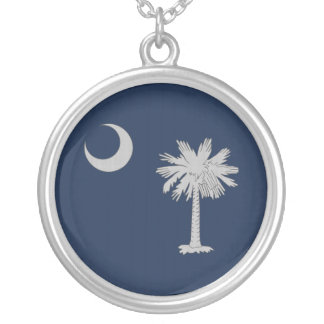 South Carolina Round Necklace - Tight fabric weave