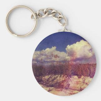 South Carolina Sand Dunes Basic Round Button Keychain