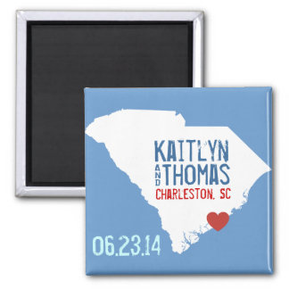 South Carolina Save the Date - Customizable City Magnet