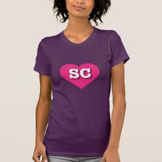 South Carolina SC hot pink heart Shirt