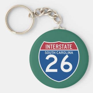 South Carolina SC I-26 Interstate Highway Shield - Keychain