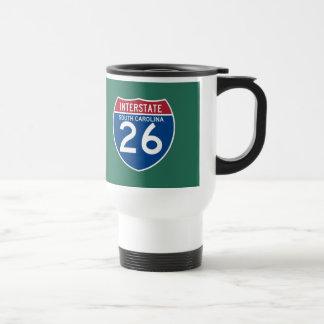South Carolina SC I-26 Interstate Highway Shield - Travel Mug