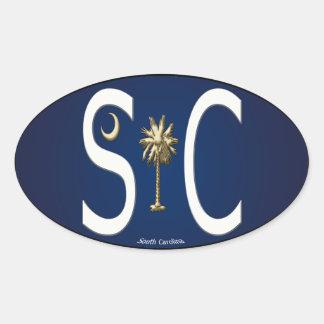 South Carolina SC Oval European Sticker