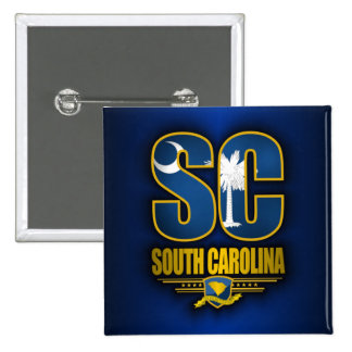 South Carolina (SC) Pinback Button