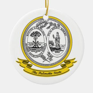 South Carolina Seal Double-Sided Ceramic Round Christmas Ornament