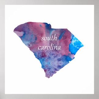 South Carolina Silhouette Poster