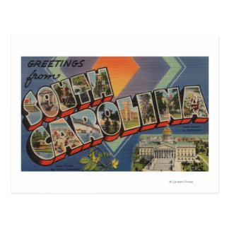 South Carolina (State Capital/Flower) Post Card