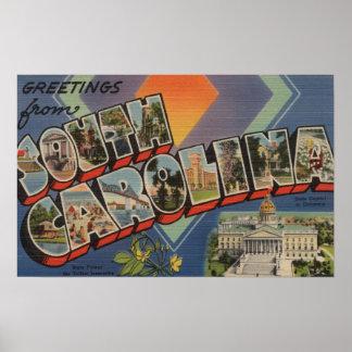 South Carolina (State Capital/Flower) Poster