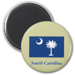 South Carolina State Flag 2 Inch Round Magnet