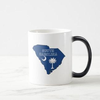 South Carolina State Flag and Map Magic Mug