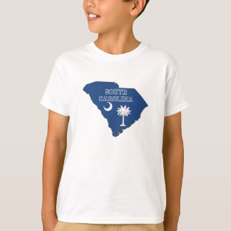 South Carolina State Flag and Map T-Shirt