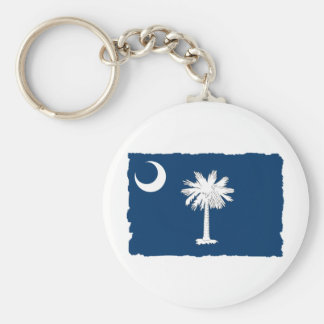 South Carolina State Flag Basic Round Button Keychain