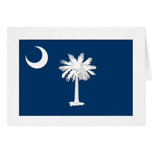 South Carolina State Flag Card