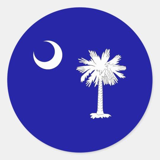 South_Carolina_state_flag Classic Round Sticker