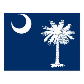 South Carolina State Flag Design Accent Postcard