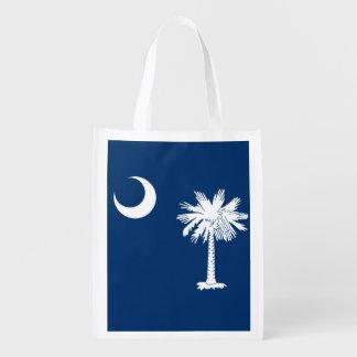 South Carolina State Flag Design Decor Grocery Bag