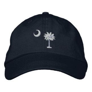 South Carolina State Flag Design Embroidered Baseball Cap