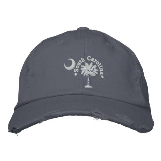 South Carolina State Flag Design Embroidered Baseball Cap