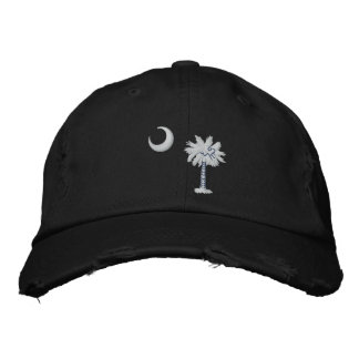 South Carolina State Flag Design Embroidered Baseball Hat